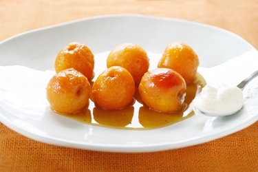Orange blossom and honey poached apricots