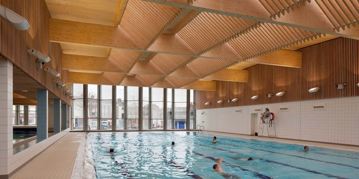 Victoria Leisure Centre, Levitate Architects. The space is generous in proportion and daylight is carefully controlled. The CLT roof structure imbues the space with a calming warmth.