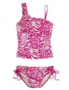 Foil Animal Print Tankini Swimsuit