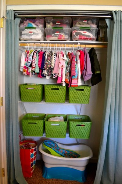 small space organization baby clothes storage and