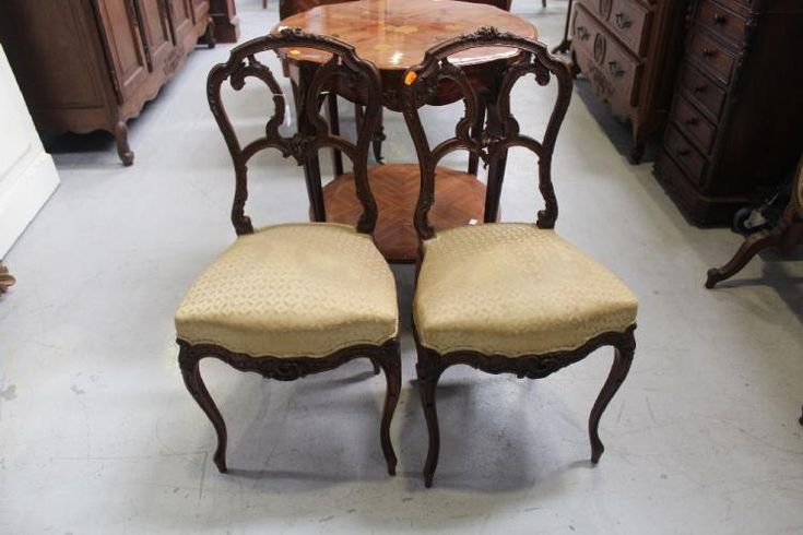 Buy online, view images and see past prices for Pair of antique French salon chairs (2). Invaluable is the world's largest marketplace for art, antiques, and collectibles.