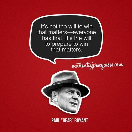 Sports Quotes / www.asportinglife.co #sportsquotes #paulbryant