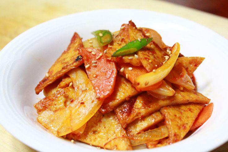 Recipe Of Korean Fish Cake: Fried Fish Cake (Odeng Bokkeum, Eomuk Bokkeum), Korean