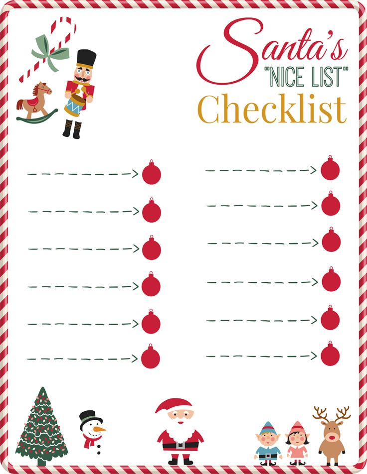 17 best ideas about Christmas Checklist – Christmas Preparation Checklist
