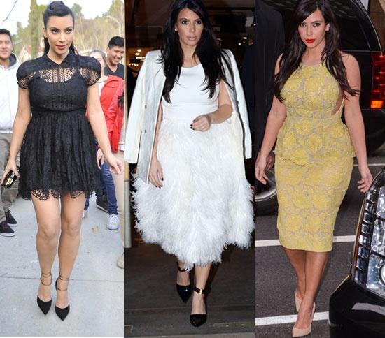 Americanas, tacones imposibles, ajustados vestidos... Los 'looks' premamá de Kim Kardashian #famosas #people #celebrities #pregnant #fashion