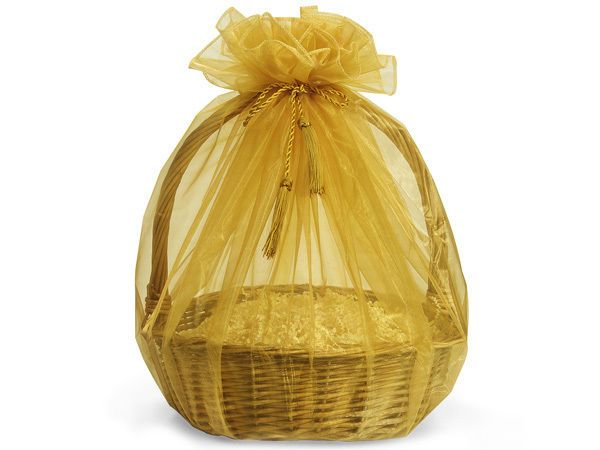 30 best cellophane wrap cello bags images on pinterest 3 sheer gold organza gift easter basket wrap 48 tassel ties christmas holiday negle Image collections
