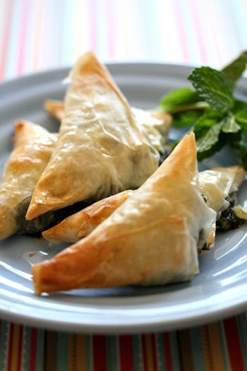 Skinny Chef - Spinach and Goat Cheese Triangles
