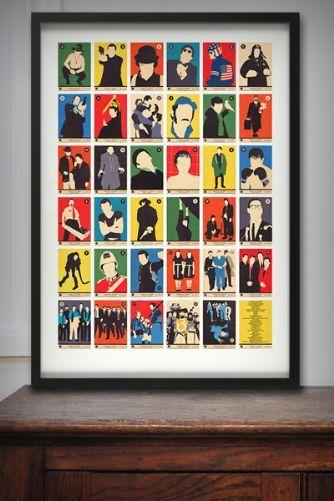 Alphabet Art Prints - Movie Classics A to Z - £40.00