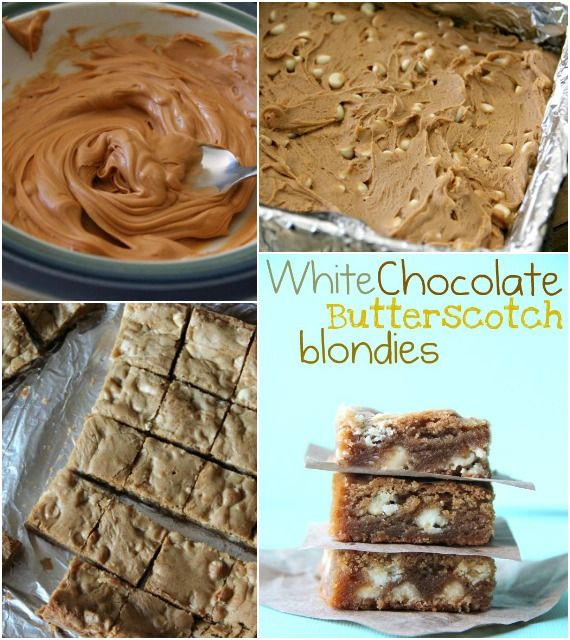 White Chocolate Butterscotch Blondies!  So easy to throw together!