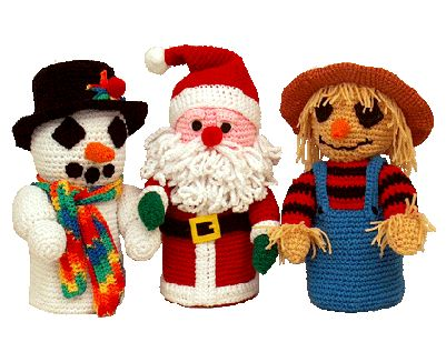 Amigurumi Crochet Pattern Holiday Toilet Paper Covers By Td creations - #7249 PDF Download Three piece holiday toilet tissue covers includes a Snowman, a Santa, and a Scarecrow. Each is unique ands...