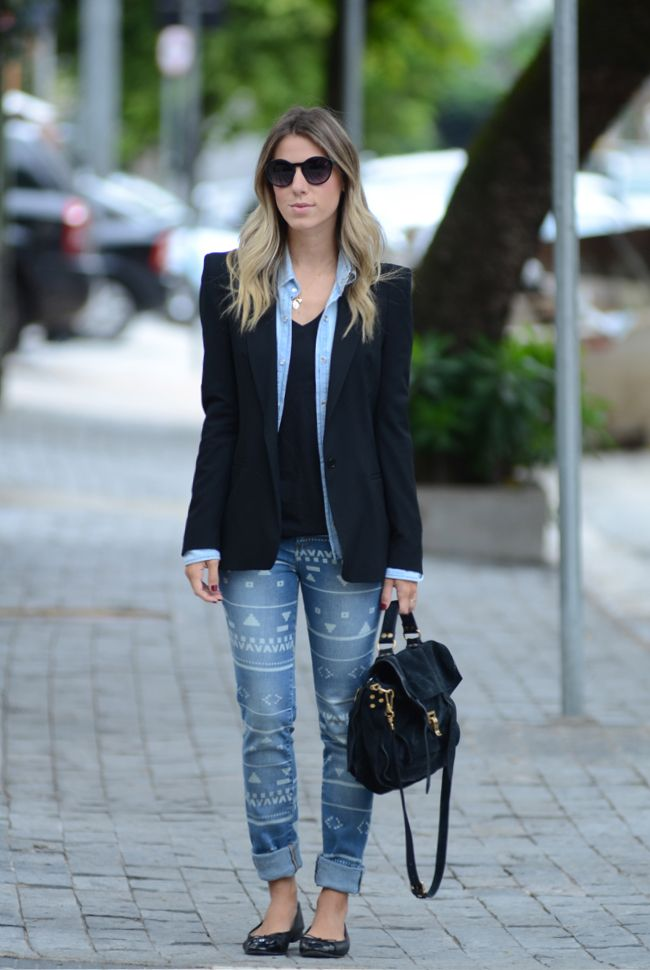 calca - jeans - blazer