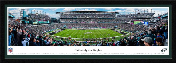 Philadelphia Eagles Panoramic Picture - Lincoln Financial Field Panorama - Select Frame $149.95