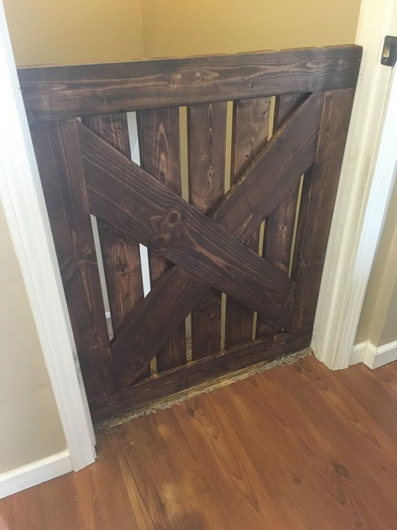 Wooden Baby gate or pet gate made to order by DanielsWoodCreation