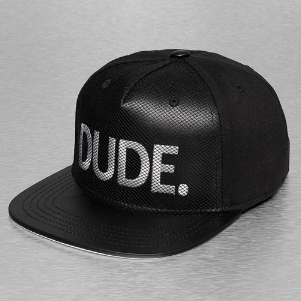 Just Rhyse DUDE Snapback Cap Black ($20) ❤ liked on Polyvore featuring accessories, hats, snapback cap, black snap back hat, cap snapback, black cap and black hat