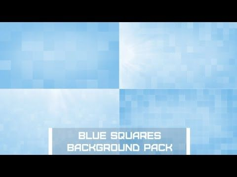 Blue Squares Background Pack