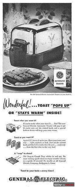 Our best treat at Grandma's because she had this toaster...we had none