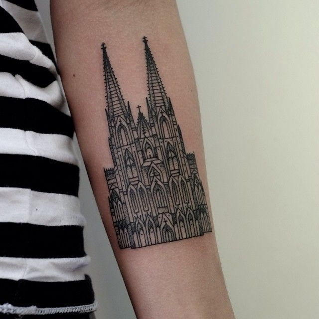 http://tattoomagz.com/architecture-tattoos/arms-gothic-style-architecture-tattoo/