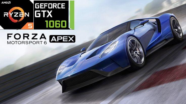 Forza Motorsport 6 Apex PC- Ryzen 5 1400 + GTX 1060 Benchmark- 4K 60+ FP...