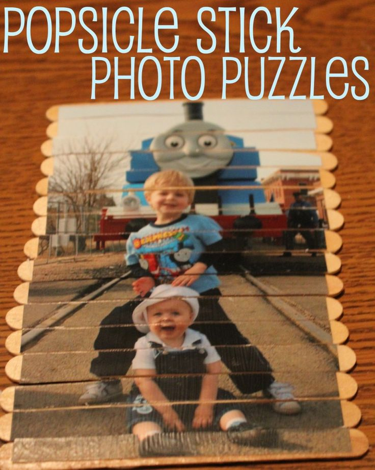 photo kids puzzle: Toddlers Activities, Ideas, Photos Puzzles, For Kids, Self Portraits, Sticks Photos, Popsicles Sticks, Popsicle Sticks, Crafts