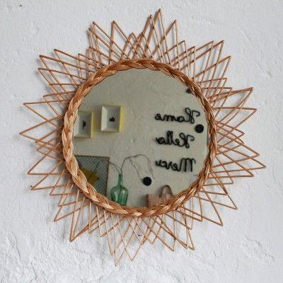 Miroir osier forme Etoile