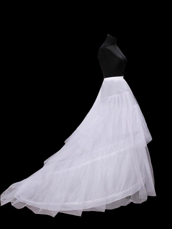 2014 nieuwste gratis verzending fashion wit 3 hoepel petticoats crinoline onderrok bridal trouwjurken kapel hof trein W1038 in   betalingVerzendkosten:Het verschepen kosten: gratis. Gratis verzending land: verenigde staten, veren van onderrokken op AliExpress.com   Alibaba Groep