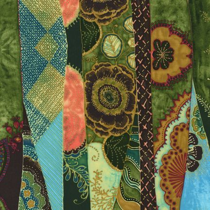 Robert Kaufman Fabrics: EUJM-6495-194 FIESTA from Bohemian Rhapsody