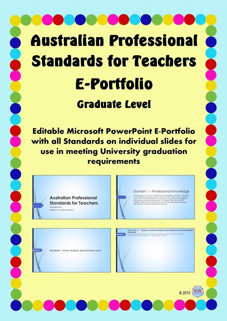Graduate Level - Australian Professional Standards for Teachers E Portfolio