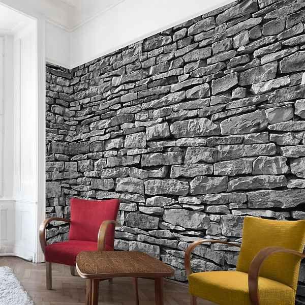 die besten 25 tapete steinoptik ideen auf pinterest steinoptik wand steinoptik und backstein. Black Bedroom Furniture Sets. Home Design Ideas