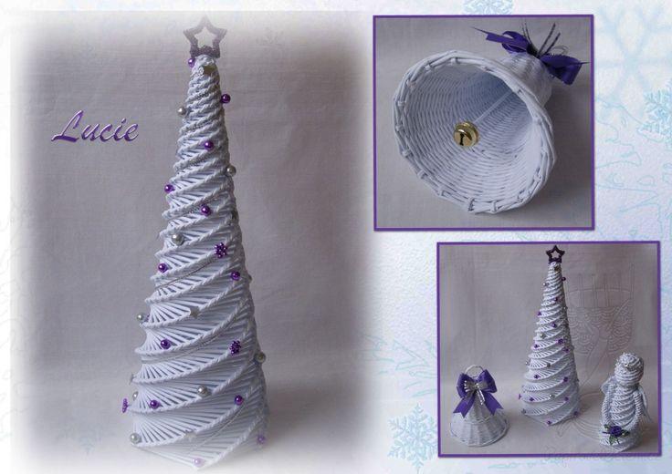 Stromeček podle dřevěné formy - Papírové pletení