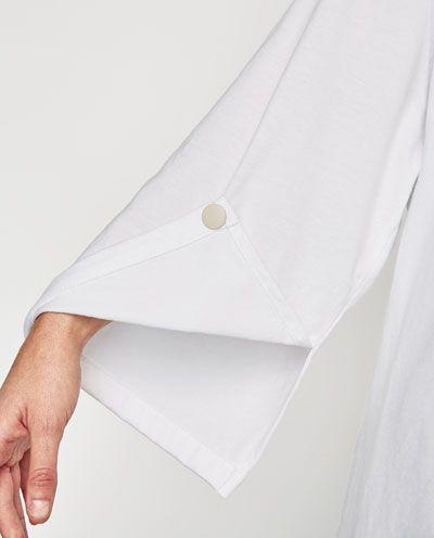 画像 7 の メタル加工ボタン付きTシャツ ザラから