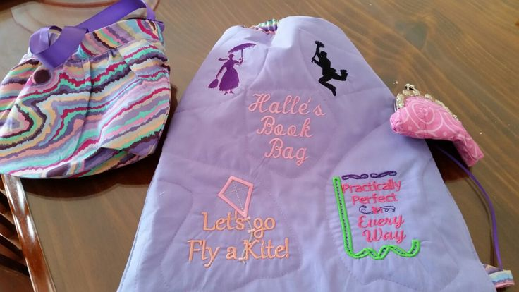 Birthday present for my Great Niece's 2nd Bithday.  Book Bag, Childs Handbag and clasp purse