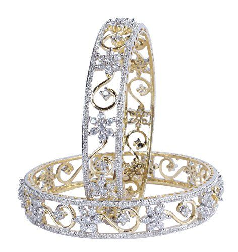 Muchmore Beautiful Gold Plated Diamond Look Bangles For Women Partywear Jewelry Check more at http://www.indian-shopping.in/product/muchmore-beautiful-gold-plated-diamond-look-bangles-for-women-partywear-jewelry/