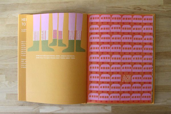 A beautiful looking children's book titled Henri's walk to Paris.