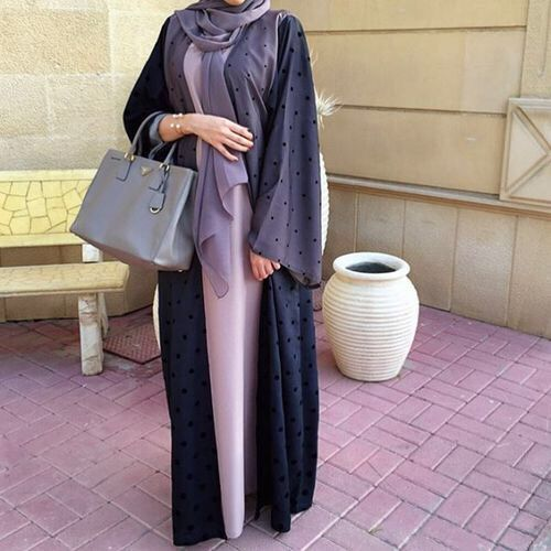 abaya, fashion, and hijab image