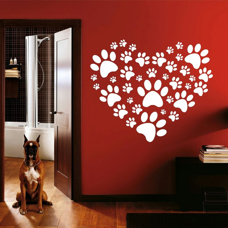 If you love puppies decorate your room with this heart of footprints.