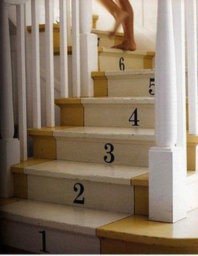 Stairway: Stairs Risers, Paintings Stairs, Interiors, Cute Ideas, Basements Stairs, Stairs Runners, Small Rooms, Kids, Stairways