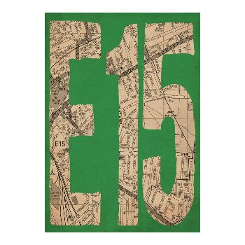 Indie Prints E15 Postcode Map A1 Framed Print: E15 postcode map. Whether you live in Stratford, West Ham, Maryland, Leyton, Leytonstone, Temple Mills, Hackney Wick, Bow or Newham, adorn your walls with E15 by Indie Prints.