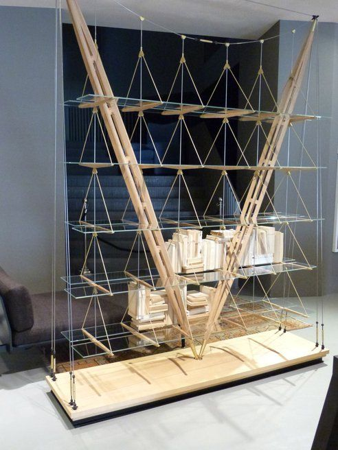 Franco Albini's Veliero Bookshelf Is Like A Suspension Bridge For Books