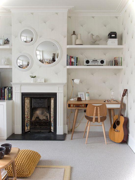 Restro Mini Home Office  From smallhousedecor.com