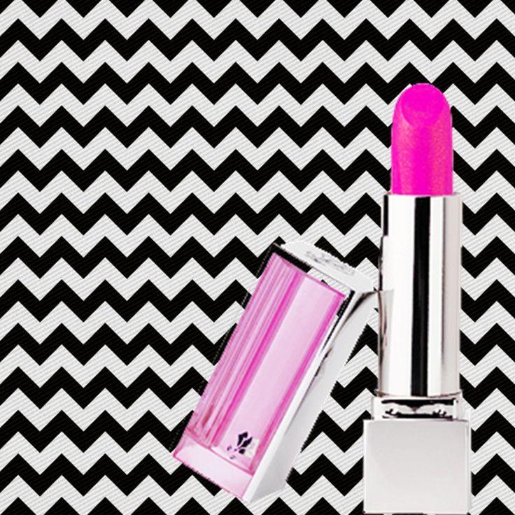 Imagem para quadrinho - plano de fundo zig zag preto e branco -batom rosa - Blog Dikas e diy