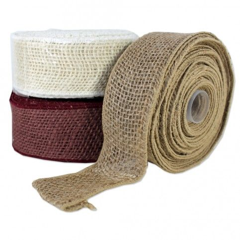 Burlap Wired Ribbon is 100% natural jute in bright bold colors! The same great vintage look of burlap ribbon w/ the added convenience of wire that allows it to maintain its shape for a beautiful, full looking bow.