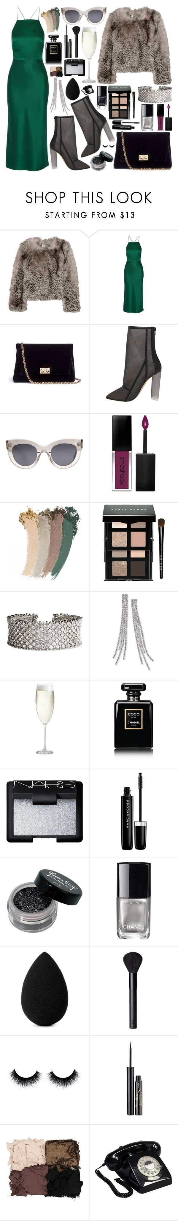 """MISTLETOE"" by queen-laureen ❤ liked on Polyvore featuring Topshop Unique, Jason Wu, Rodo, CÉLINE, Smashbox, Gucci, Bobbi Brown Cosmetics, Thalia Sodi, Crate and Barrel and Chanel"