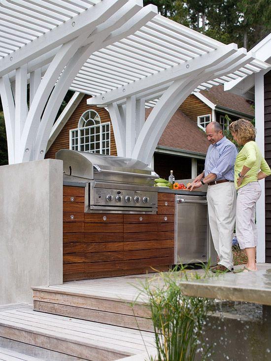 Best 25 white pergola ideas on pinterest small garden gates wooden deck pergola and patio - Gazebo get upcoming barbecues ...