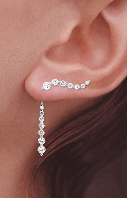Ear pin & drop earrings