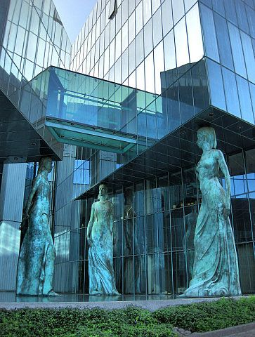 Warsaw 10 -- Pero Velinovski. Great use of public art in the architecture of a modern building
