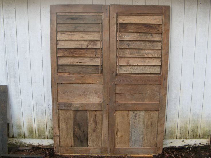 14 best images about reclaimed wood on pinterest shutter for Barnwood shutters