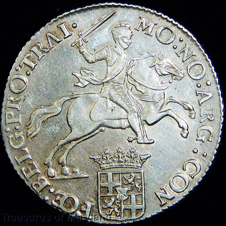 "Revolutionary War Era 1776 DUTCH ""UTRECHT"" SILVER 1/2 RIDER DUCATON sku #DG12"