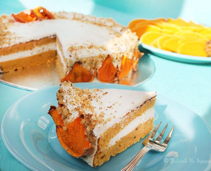 Tort cu Dovleac si Crema de Branza (fara zahar, fara faina alba, continut scazut de grasimi, 100% sanatos) - Powered by @ultimaterecipe