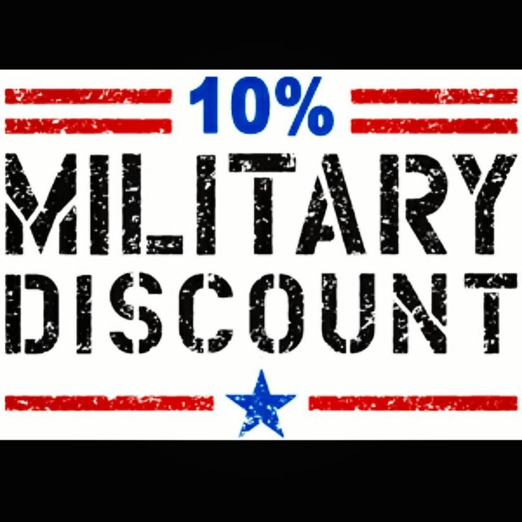 In Appreciation Of Our Military We Offer A 10% Discount For Active Members.  We