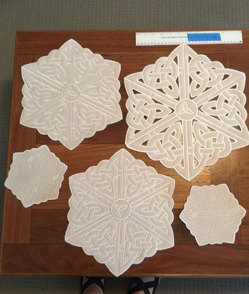 Large Celtic Topper/Coaster | Embroidery Inspiration
